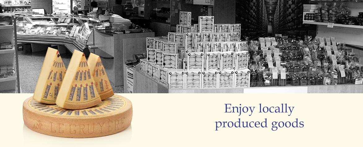 Enjoy locally produced goods shop